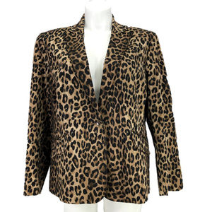 Jones New York Leopard Blazer Animal Print Plus 20